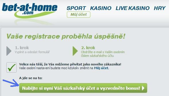 3. krok registrace na herně Bet-at-home